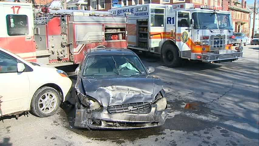 A three-car accident tied up traffic in Pittsburgh's Point Breeze area on Monday morning.
