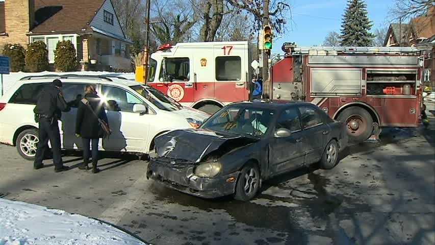 A minivan was also involved in the crash.