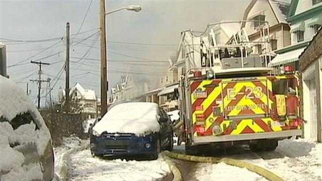 car near firetruck