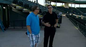 Pirates president Frank Coonelly gave Action Sports' Guy Junker a tour of the ballpark.