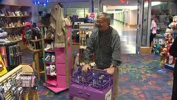But the longtime shoe shiner's gift isn't healing, it's giving back.