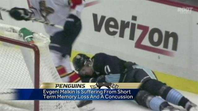 Malkin out after injury