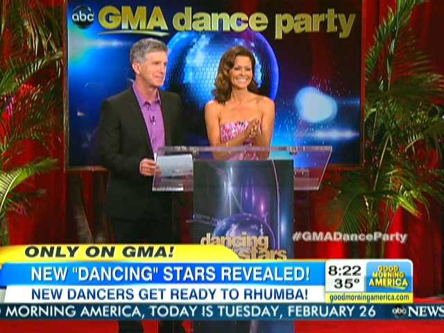 """Dancing with the Stars"" hosts Tom Bergeron and Brooke Burke announced the cast of Season 16 live on ""Good Morning America"" on Tuesday."