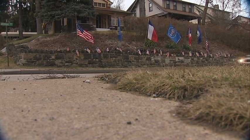 """""""If you want to make a statement with flags, this is the place to do it,"""" he told Channel 4 Action News anchor Wendy Bell."""