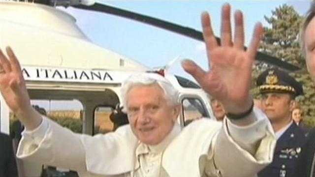 Pope Benedict XVI, Supreme Pontiff of the Roman Catholic Church, left the Vatican today to begin his retirement.