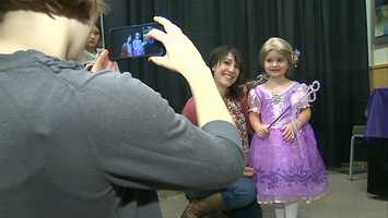 Six girls from the Make-A-Wish Foundation were turned into their favorite Disney princesses during Disney On Ice at Consol Energy Center.