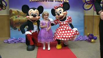 They even got a visit from Mickey and Minnie Mouse.