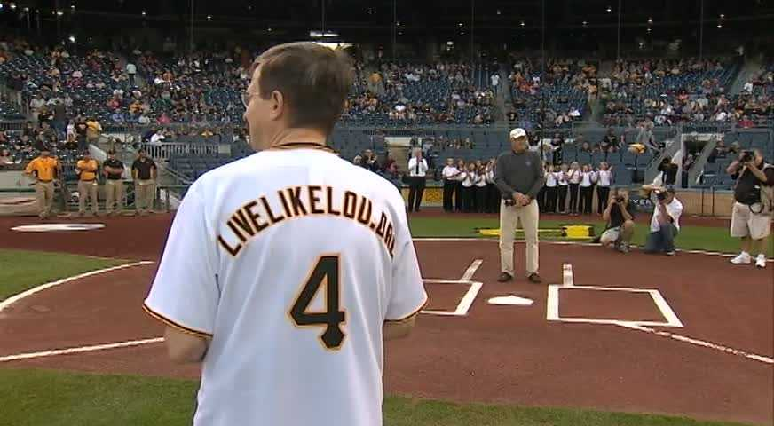 """The PA announcer's voice echoed throughout the stadium with """"Would you please give a long round of applause as Neil Alexander throws out an honorary first pitch."""""""
