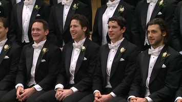 Matt Cooke, James Neal, Sidney Crosby and Kris Letang