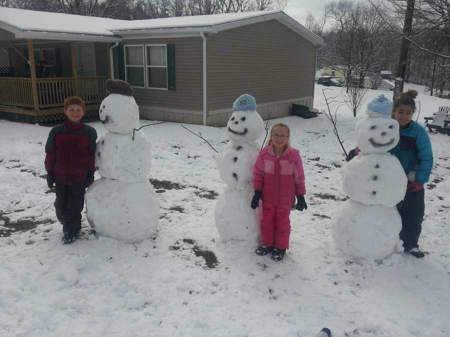 Fun in the snow in Kittanning.
