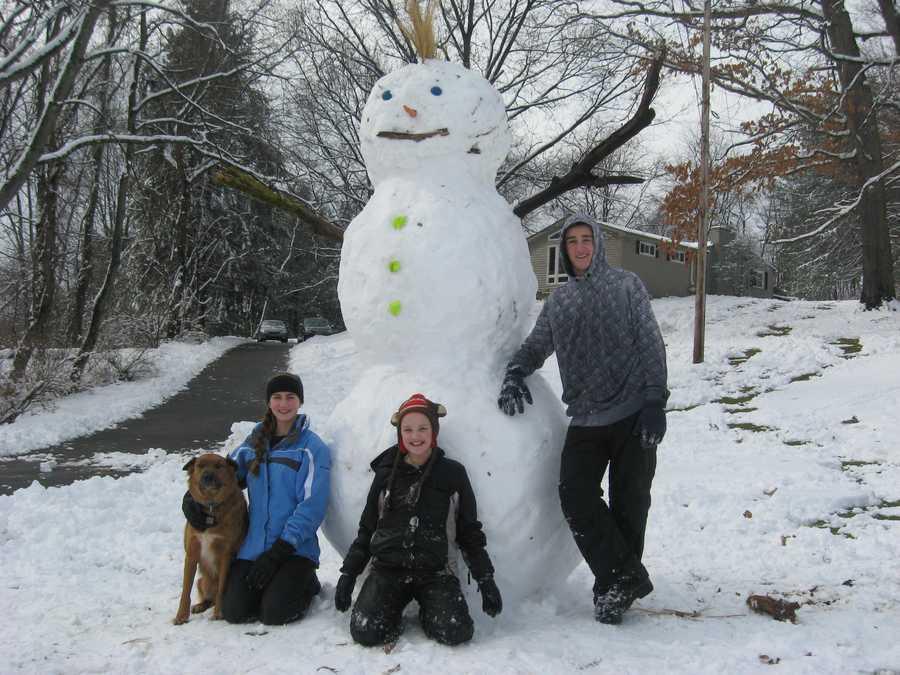 Ben, Anna and Josie in Ingomar.