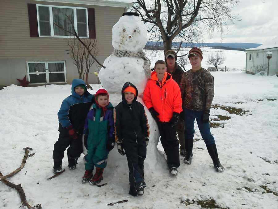 Big snowman in Latrobe
