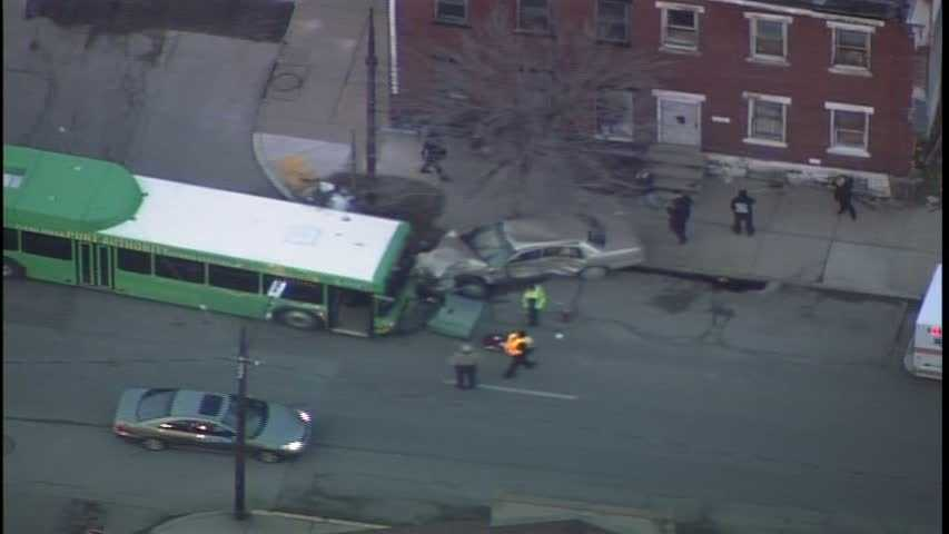 The head-on crash happened uptown at Forbes Avenue and Gist Street, not far from UPMC Mercy hospital.