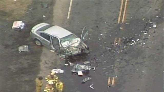 Woman killed in head-on crash&#x3B; 2 others flown to hospital