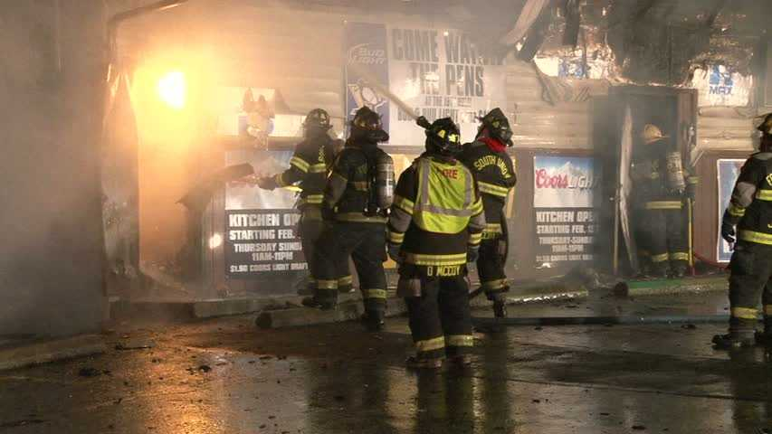 A state police fire marshal is called to investigate after the 19th Hole bar went up in flames.