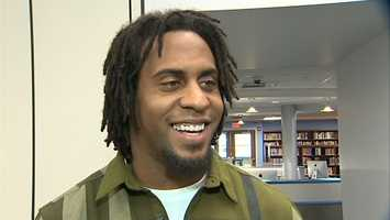 """""""It feels good just giving back, that's what you always want to do,"""" Breaston told Channel 4 Action Sports' John Meyer. """"When you leave your high school, leave your community, you always want to make it to where you can come back and give back to your community again, especially helping the kids who are going through the same things that you've been through."""""""