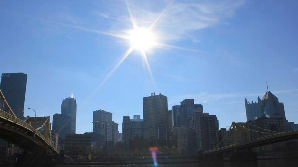 A sunny shot of Downtown Pittsburgh.