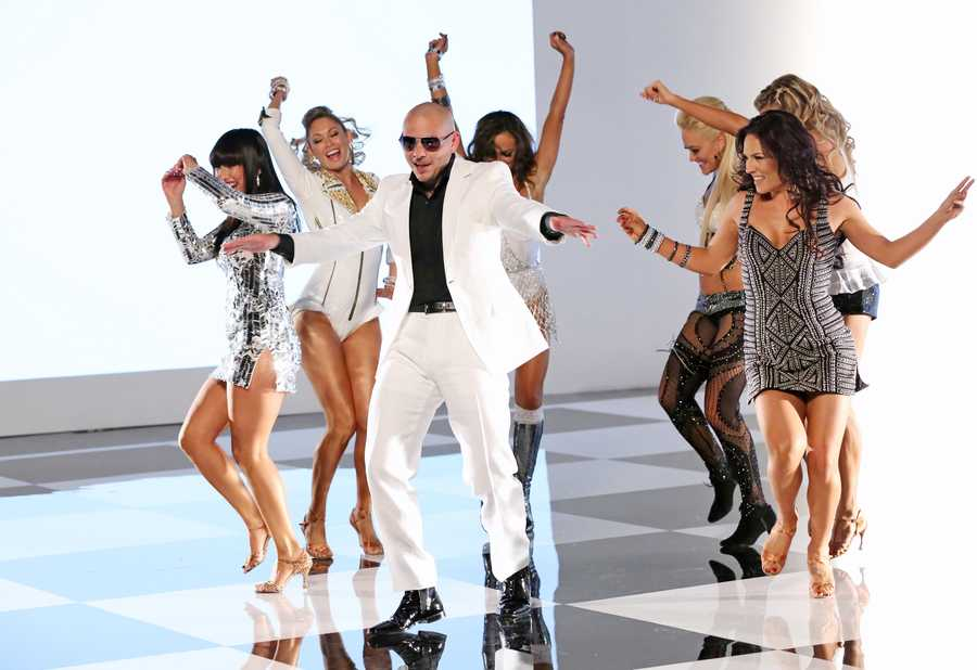 """MUSIC VIDEO WITH PITBULL: Dancing with the Stars"""" and """"Dancing with the Stars: the Results Show"""" return this season with new surprises and all the performance elements viewers have come to know and love. The celebrities perform choreographed dance routines which will be judged by renowned Ballroom judge Len Goodman and dancer/choreographers Bruno Tonioli and Carrie Ann Inaba. (Photo: ABC/Adam Taylor)"""