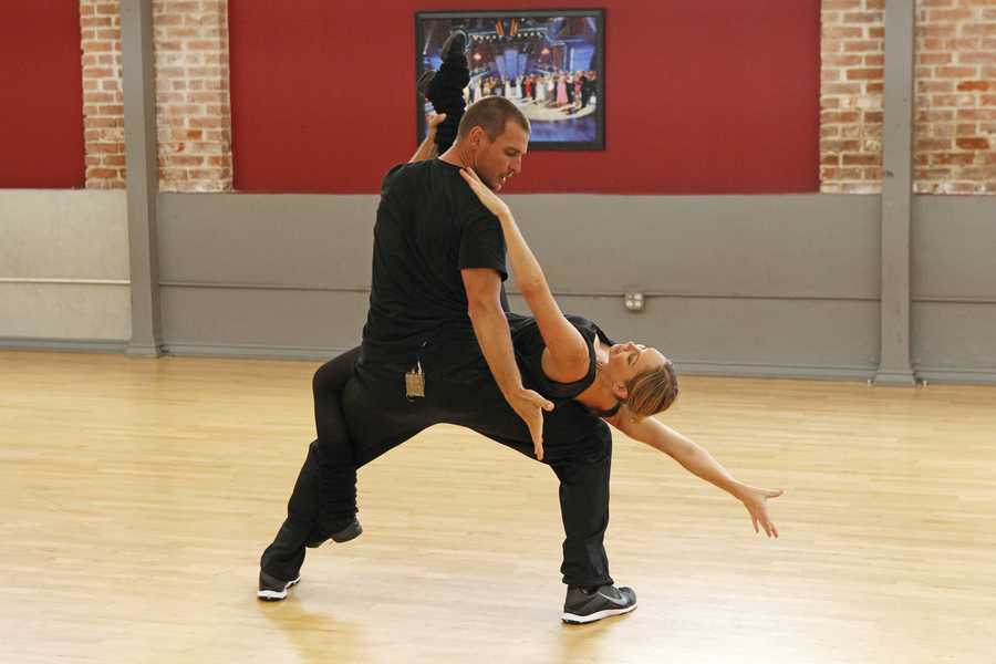 """DANCING WITH THE STARS - REHEARSALS - Ingo Rademacher & Kym Johnson - This season's dynamic lineup of stars will perform for the first time on live national television with their professional partners during the two-hour season premiere of """"Dancing with the Stars,"""" Monday, March 18th @ 8pm. (ABC/Rick Rowell)"""