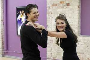 "DANCING WITH THE STARS - REHEARSALS - Gleb Savchenko & Lisa Vanderpump - This season's dynamic lineup of stars will perform for the first time on live national television with their professional partners during the two-hour season premiere of ""Dancing with the Stars,"" Monday, March 18th @ 8pm. (ABC/Rick Rowell)"