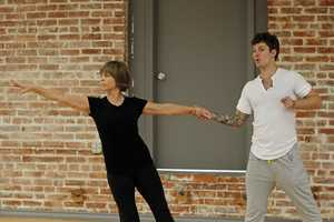 "DANCING WITH THE STARS - REHEARSALS - Dorothy Hamill & Tristan Macmanus - This season's dynamic lineup of stars will perform for the first time on live national television with their professional partners during the two-hour season premiere of ""Dancing with the Stars,"" Monday, March 18th @ 8pm. (ABC/Rick Rowell)"
