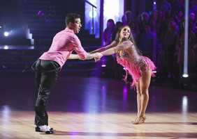 "Aly Raisman & Mark Ballas - ""Dancing with the Stars"" was back with an all-new cast of fresh faces hitting the dance floor. The competition began with the two-hour Season 16 premiere, live on Monday, March 18th. (ABC/Adam Taylor)"