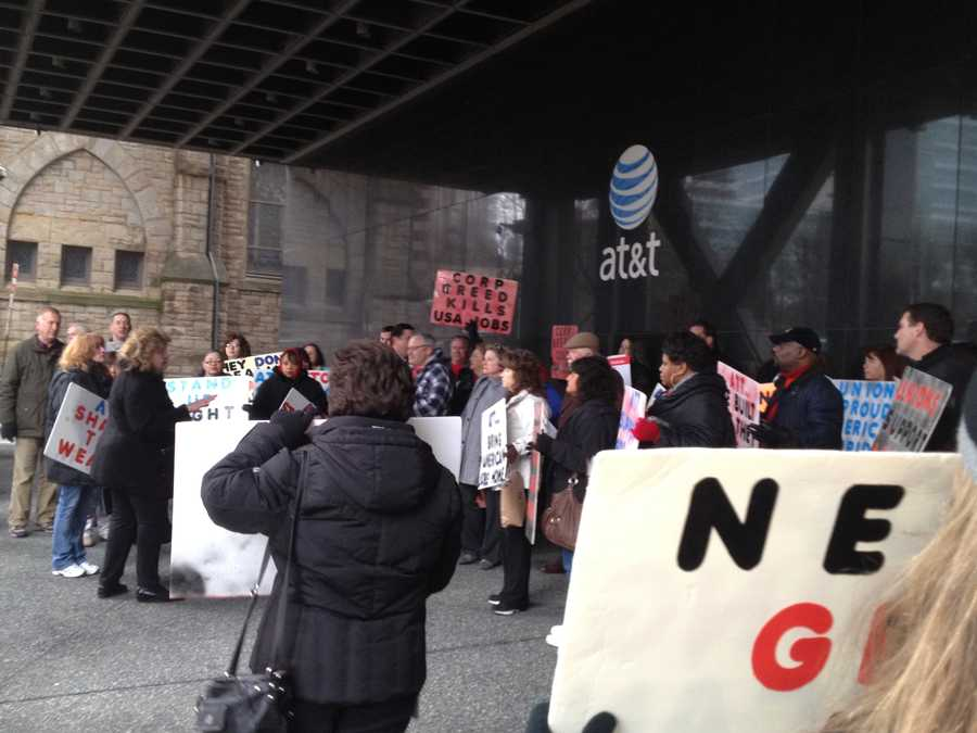 Most of the workers said they have been with AT&T for more than 20 years, and they want to stay there longer.