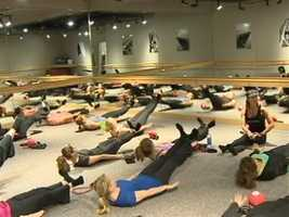 Evancic said Pure Barre offers classes and special packages for brides-to-be getting ready to walk down the aisle and moms looking to shed baby weight by targeting women's problem areas.
