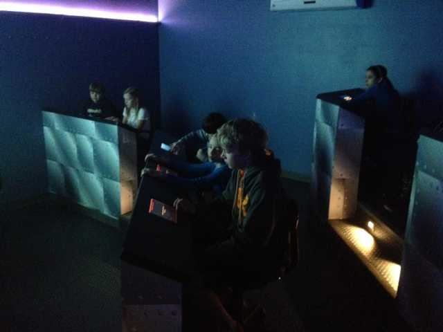 The missions are all linked to subjects taught in the regular curriculum, including math, biology and history. Students take specific places in the simulator, and each has a specific job.
