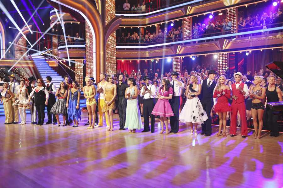 """WEEK 2 - The competition heats up on """"Dancing with the Stars"""" as the celebrities take on new dance routines and fight for survival. The couples performed a Jive, Quickstep or Jazz routine. (Photo: ABC/Adam Taylor) - WATCH THE MUSIC VIDEO WITH PITBULL & DWTS DANCERS"""