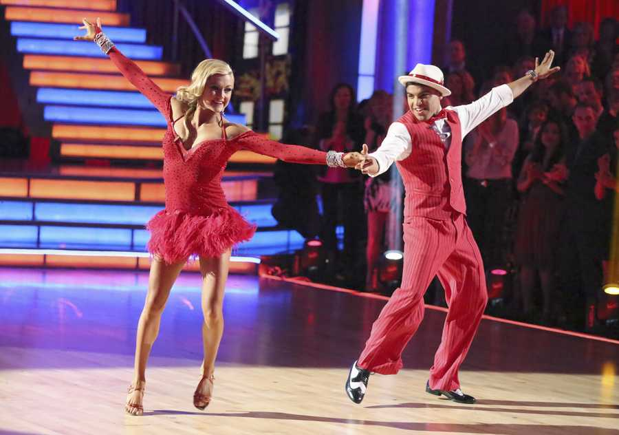 """Victor & Lindsay - The competition heats up on """"Dancing with the Stars"""" as the celebrities take on new dance routines and fight for survival. The couples performed a Jive, Quickstep or Jazz routine. (Photo: ABC/Adam Taylor)"""