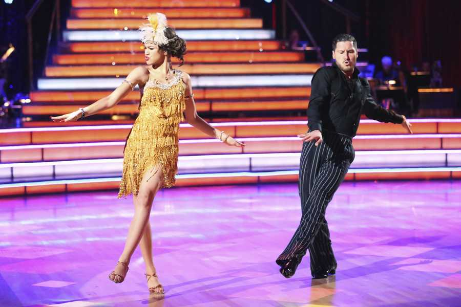 """Zendaya & Val - The competition heats up on """"Dancing with the Stars"""" as the celebrities take on new dance routines and fight for survival. The couples performed a Jive, Quickstep or Jazz routine. (Photo: ABC/Adam Taylor)"""