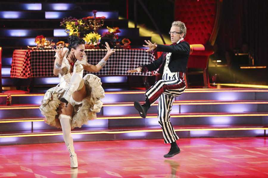 """Andy & Sharna - The competition heats up on """"Dancing with the Stars"""" as the celebrities take on new dance routines and fight for survival. The couples performed a Jive, Quickstep or Jazz routine. (Photo: ABC/Adam Taylor)"""