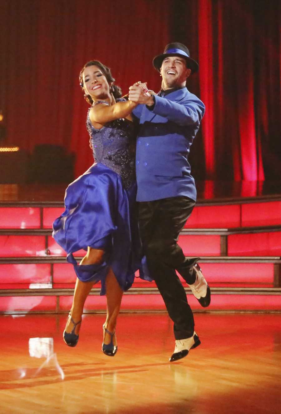 """Aly & Mark - The competition heats up on """"Dancing with the Stars"""" as the celebrities take on new dance routines and fight for survival. The couples performed a Jive, Quickstep or Jazz routine. (Photo: ABC/Adam Taylor)"""
