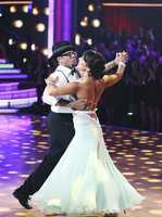 """D.L. & Cheryl - The competition heats up on """"Dancing with the Stars"""" as the celebrities take on new dance routines and fight for survival. The couples performed a Jive, Quickstep or Jazz routine. (Photo: ABC/Adam Taylor)"""