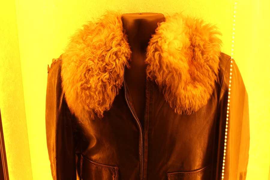 Jim Morrison's black leather jacket with fur collar