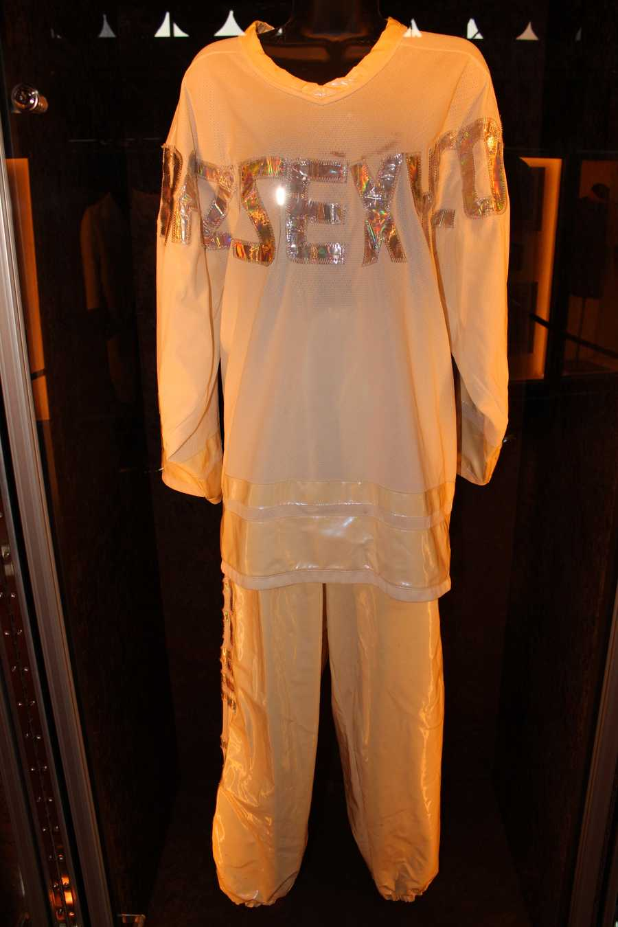 """This outfit was worn by Lisa """"Left Eye"""" Lopes during TLC's CrazySexyCool tour"""