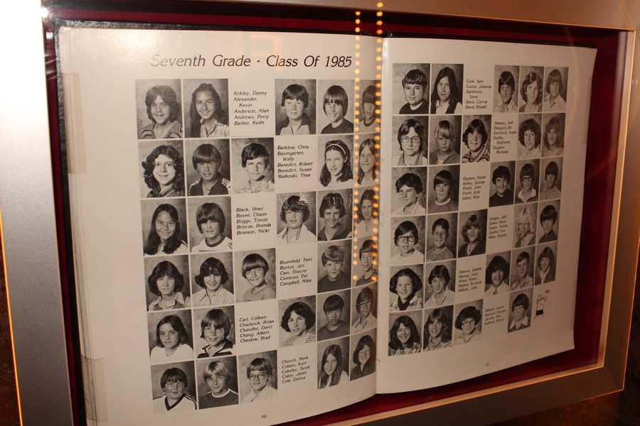Kurt Cobain's seventh-grade yearbook
