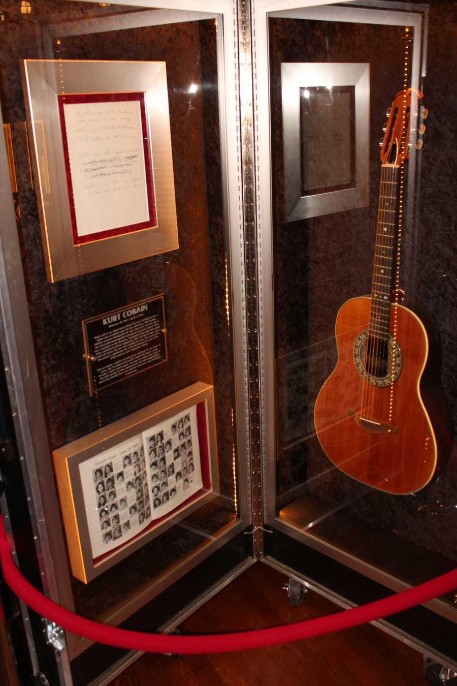 Kurt Cobain's Ovation acoustic.