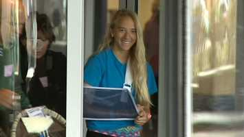 Allison Meadows left Children's Hospital of Pittsburgh with her family three days after undergoing surgery.