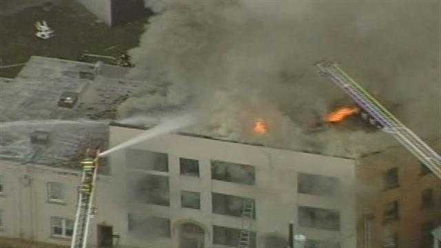 A large fire broke out at a multi-level apartment home in South Oakland on Friday morning.