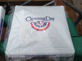 One of the bases used on Opening Day