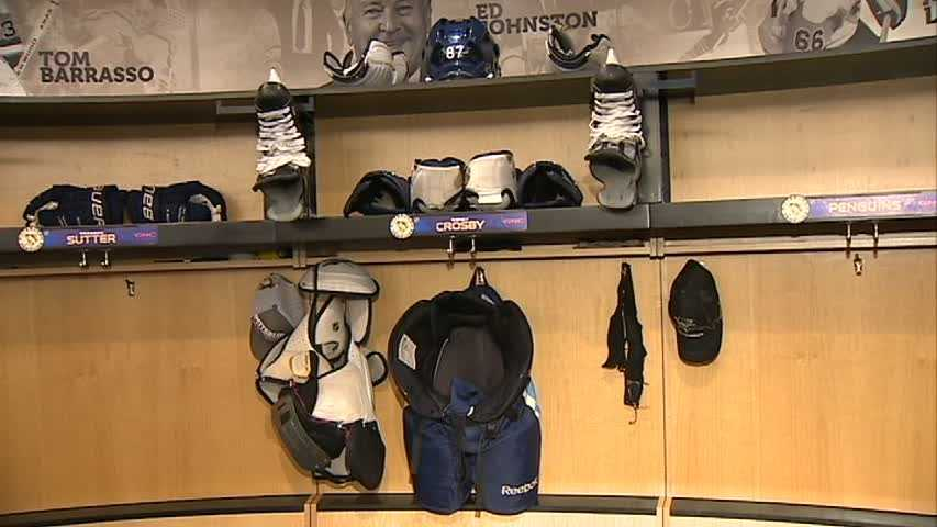 Sidney Crosby empty locker