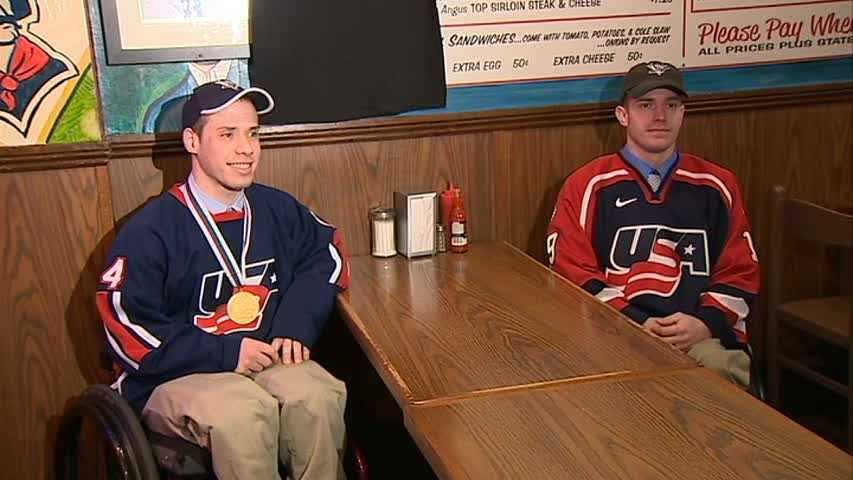 Paralympians Dan McCoy and Josh Wirt have joined a star-studded mural featuring a who's who of Pittsburgh at Primanti Bros. in the Strip District.
