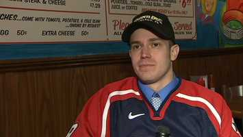Josh Wirt was a member of the 2002 U.S. Paralympic Sled Hockey Team that won a gold medal.