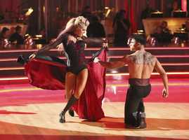 """Victor & Lindsay - The competition continued as the 10 remaining celebrities celebrated """"The Best Year of Their Life"""" through dance, on Monday, April 8th. Each couple danced to a song of the celebrities' choosing that represents a memorable time or experience in their life. In addition, each celebrity was challenged to perform a brief solo during their performance. (Photo by ABC/Adam Taylor)"""