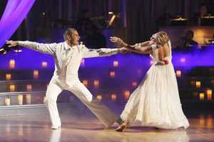 """Ingo & Kym - The competition continued as the 10 remaining celebrities celebrated """"The Best Year of Their Life"""" through dance, on Monday, April 8th. Each couple danced to a song of the celebrities' choosing that represents a memorable time or experience in their life. In addition, each celebrity was challenged to perform a brief solo during their performance. (Photo by ABC/Adam Taylor)"""