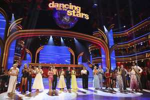 """The competition continued as the 10 remaining celebrities celebrated """"The Best Year of Their Life"""" through dance, on Monday, April 8th. Each couple danced to a song of the celebrities' choosing that represents a memorable time or experience in their life. In addition, each celebrity was challenged to perform a brief solo during their performance. (Photo by ABC/Adam Taylor)"""