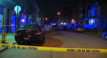 A woman was found shot in the street on South Trenton Avenue in Wilkinsburg.