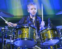 "Six year old Avery from Washington, PA as he jams on ""Live with Kelly & Michael"" that aired on Friday, April 12, 2013.  You can watch ""Live with Kelly & Michael"" every weekday at 9am only on WTAE Channel 4.  (Photo: Lorenzo Bevilaqua/Disney-ABC Domestic TV)"